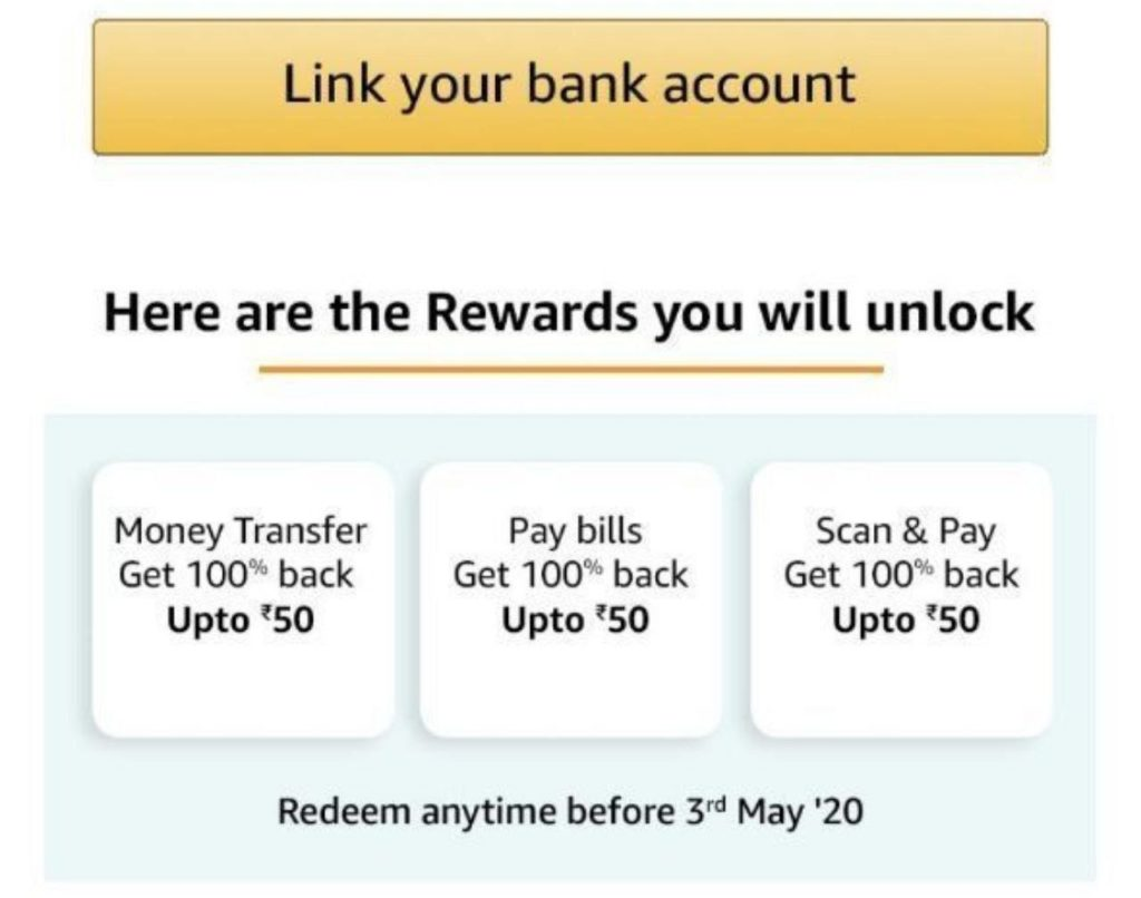 [Extended] Amazon Pay Offers Loot |Get Upto 100% Cashback Daily Till 14th MAY