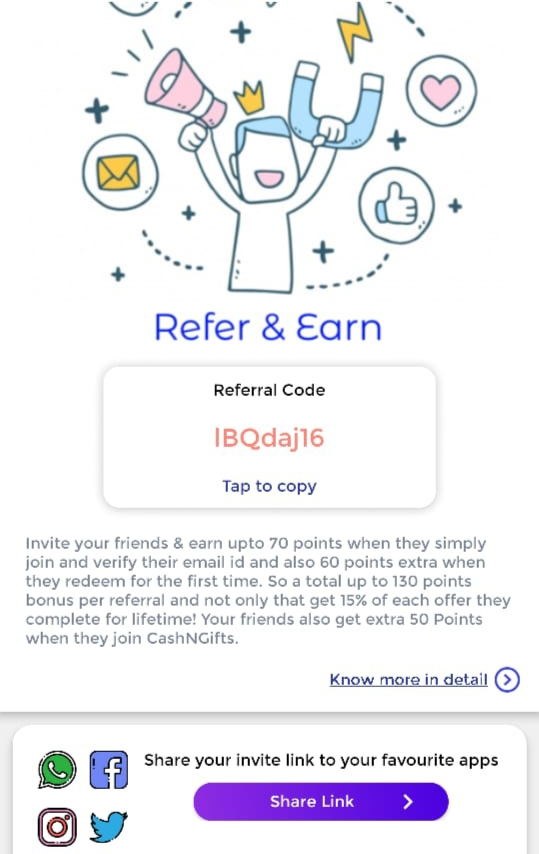 CashNGifts App Download |Get ₹15 On Signup + Refer & Earn |Referral Code