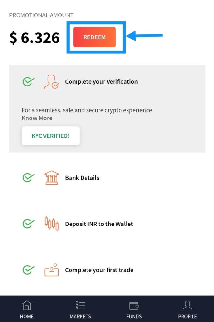 [Updated] CoinDCX | Get Rs. 500 bitcoin on signup Proof | Referral Code | Review