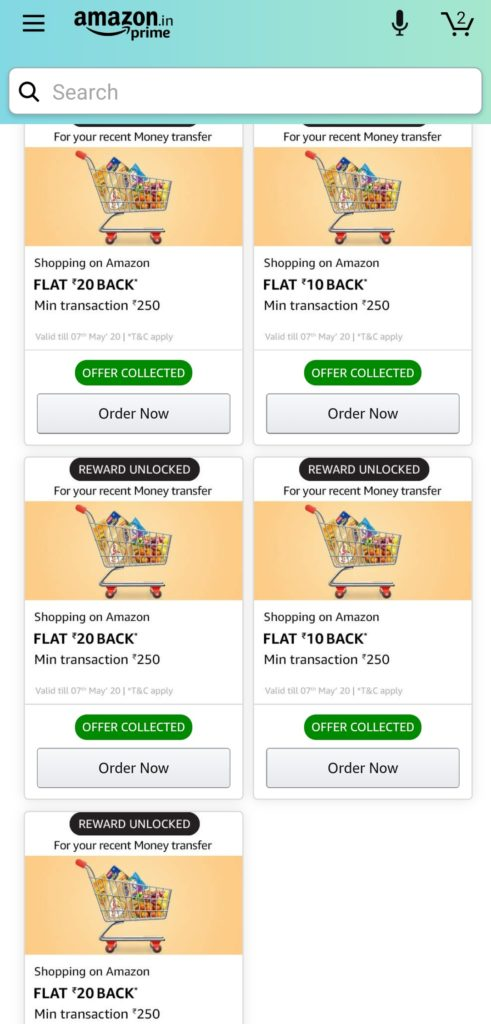 [UPDATED] All Amazon Pay Offers| Recharge, UPI, Bill, Tickets etc.