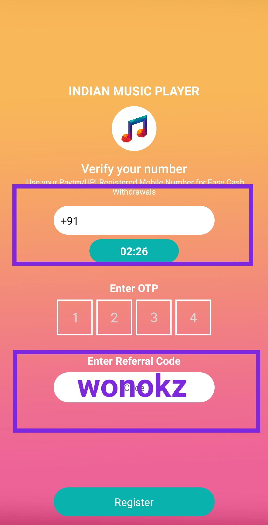 Indian Music Player Referral Code , Indian Music App Player Referral Code , India Music Player App Download , India Music Player Apk Download , Listen Music Earn Free Paytm , Refer & Earn Paytm Cash