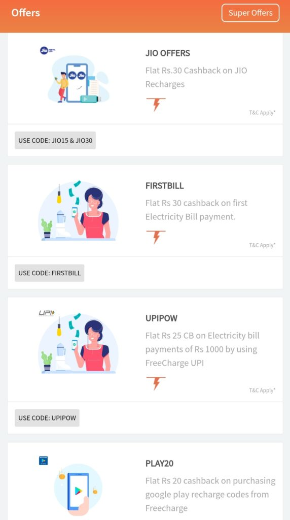 FreeCharge Coupons| 100% cashback Recharge Promo Code | Offers