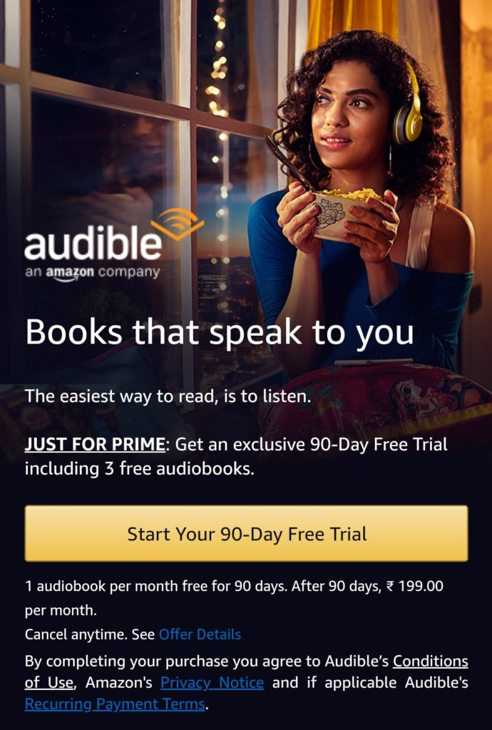 Get Free Amazon Audible Membership Subscription for 90 days