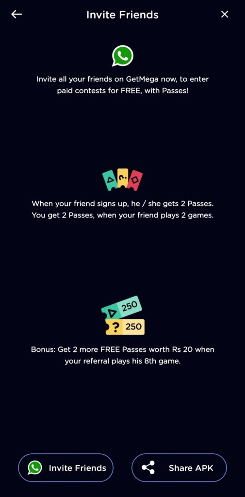 GetMega Referral Code - Play Games and Earn Free Paytm Cash