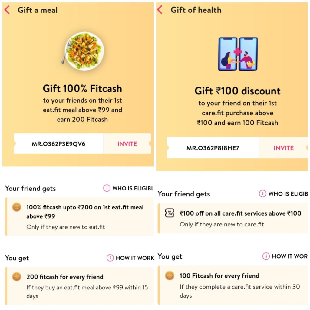 Cure Fit / Cult Fit Voucher Code, Offers | Rs. 300 Per Refer - 100% Usable