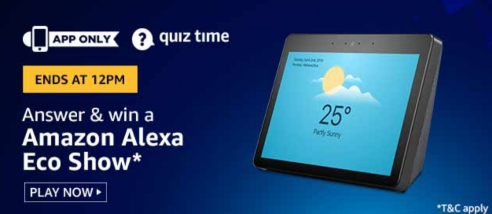 [Today's Answers] Amazon Quiz Time - Win  Amazon Pay Balance | 8 June